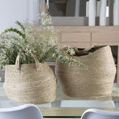 Hisao set 2 seagrass baskets