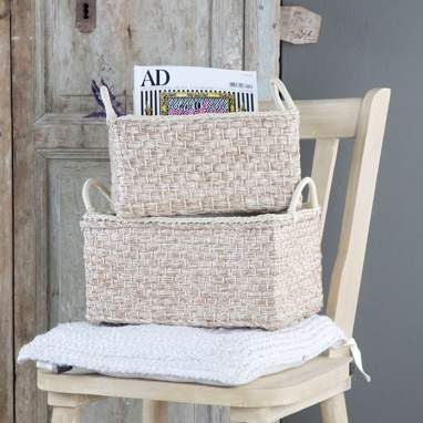 Krum conjunto 2 cestas fibra pes c/ pegas