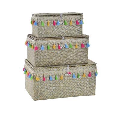 Alde  set 3 cestas fibra poliester