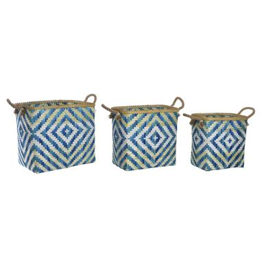Vesk set 3 blue bamboo basquet