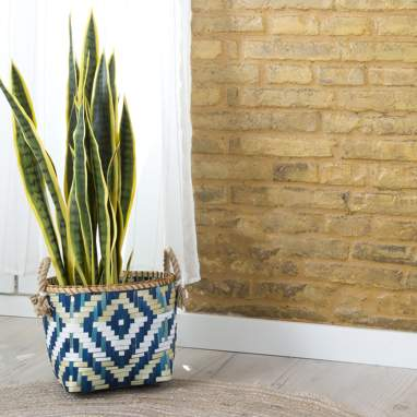 Slaej conjunto 3 cestas bambu boho azul
