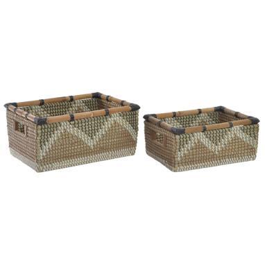 Colo kit 2 cestas fibra bambu