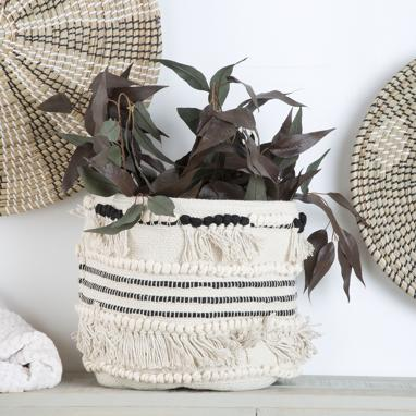 Wayn white cotton basket