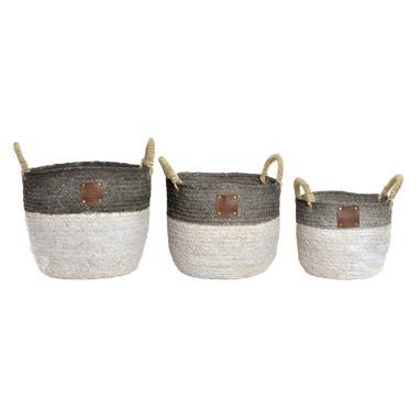 Noes set 3 cestas fibra trenzada