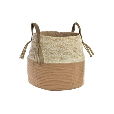 Duar rush jute plaited whit handle laundry basket