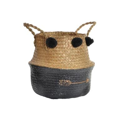 Mara black fibre basket w/ arrow