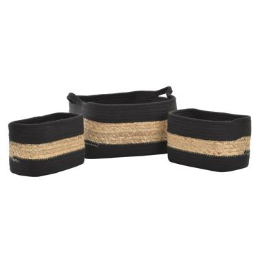 Ista set 3 cotton/fibre plaited basquets