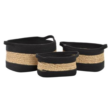 Noka set 3 plaited fibre cotton basquets