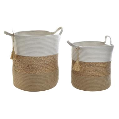 Asene set 3 natural fibre basquets