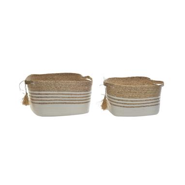 Xevi set 2 natural fibre baskets
