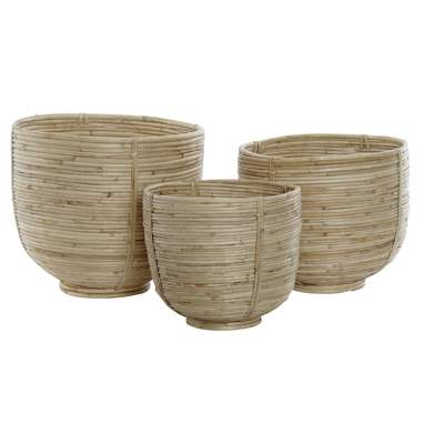 Maso set 3 natural ratan baskets