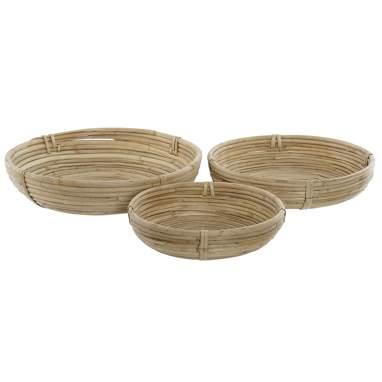 Baky set 3 natural ratan baskets