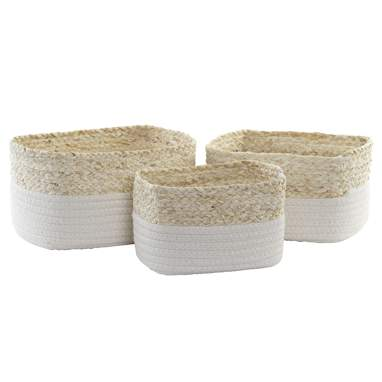 Loty set 3 fibre basquet cotton baskets