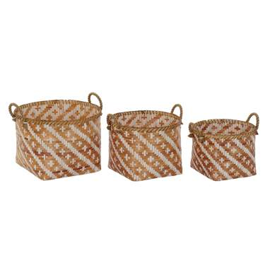 Tick set 3  bamboo basket