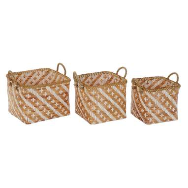 York set 3 bamboo basket