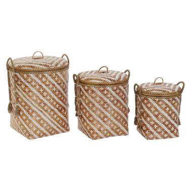 Stee set 3  bamboo basket