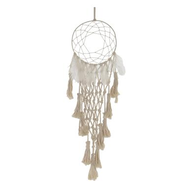 Yale white plaited cotton dreamcatcher