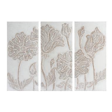 Triel mural triptico madera tallada