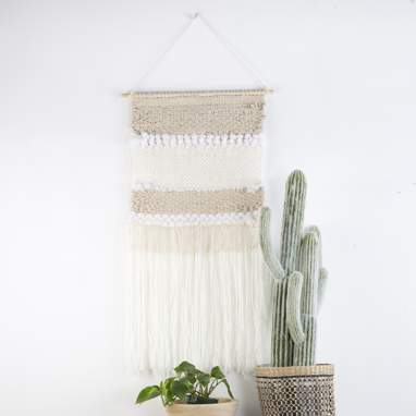 Noiz decoracion pared poliester 50,5x116 macrame