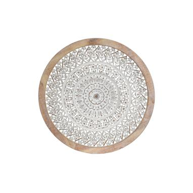 Loge metal wood wall decoration mandala