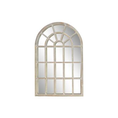 Naal distressed wood window mirror