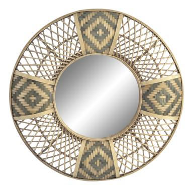 Asal black natural bamboo mirror