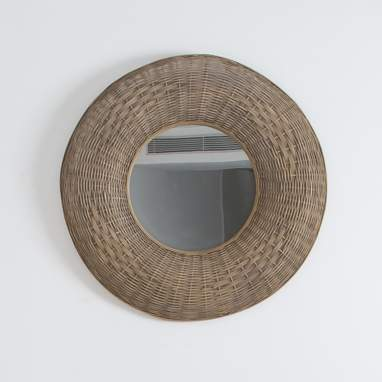 Dass natural rattan mirror