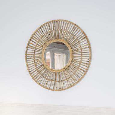 Flod natural bamboo mirror
