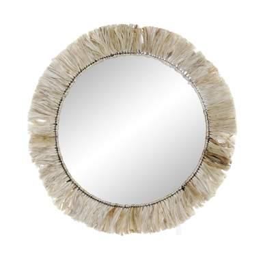 Maty metal jute mirror