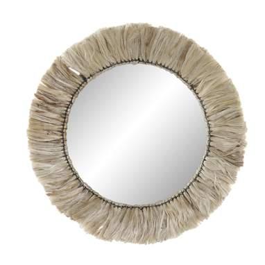 Mety metal jute mirror