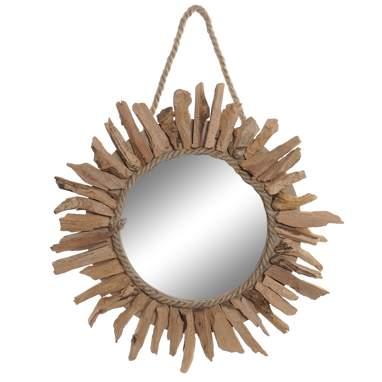 Shar specchio legno tronchi naturale