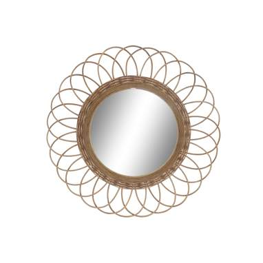Kork natural ratan mirror