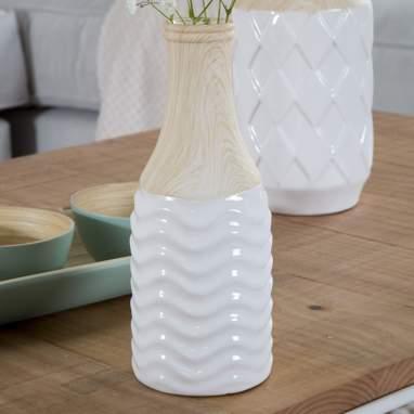 Bonn  jarron  8x20,5 blanco natural