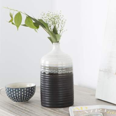 Nime vase céramique 15x29 bicolore