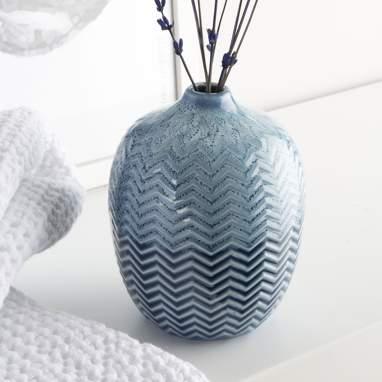 Woli vaso porcellana a righe con rilievo