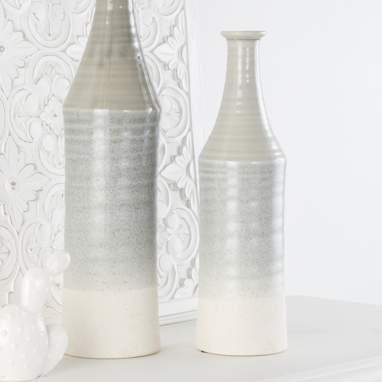Karva jarron porcelana 11x11x41 gris