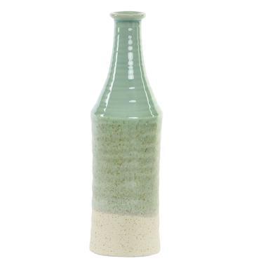 Orel jarron porcelana 10x10x34 verde