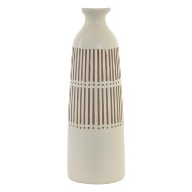 Kross vase dolomite blanc