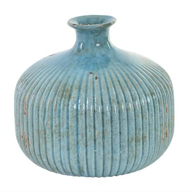 Mely blue ceramic vase