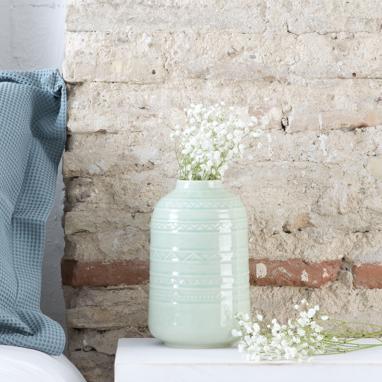 Alfi craquelure porcelain vase