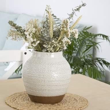 Gank vaso gres bianco