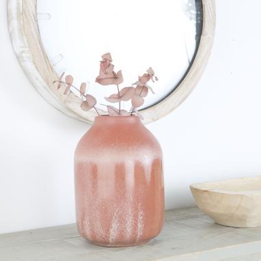 Kora jarron porcelana perlado