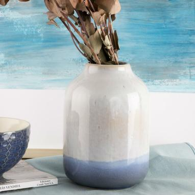 Belu pearly blue porcelain vase