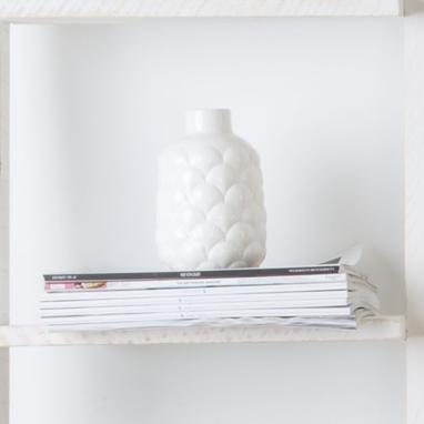 Xupp vase porcelaine coquillage blanc