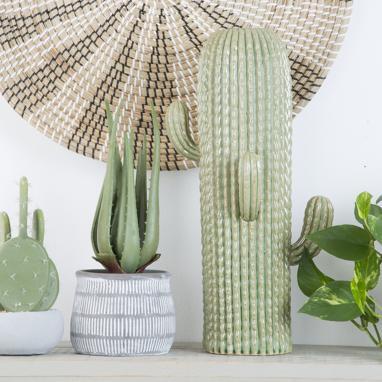 Etek jarron gres 22x23x46 cactus verde