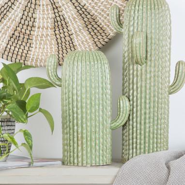 Nite vaso gres cactus verde