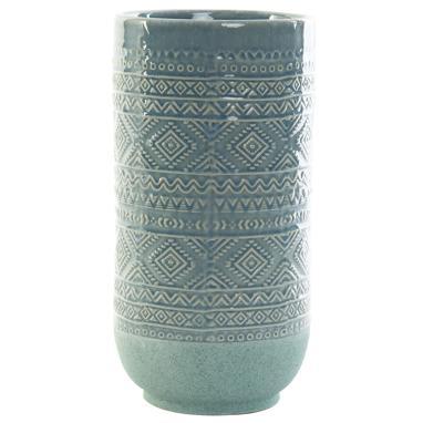 Faran vase gres bleu ciel