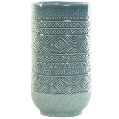 Nisk vase gres bleu ciel