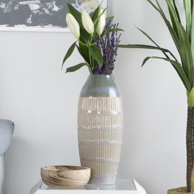 Yuet vase grès bleu