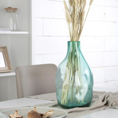 Miriu green crystal vase